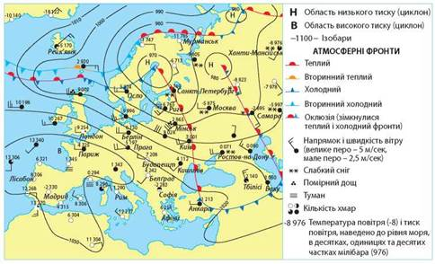 Harakteristiki Stanu Povitrya Pogoda Pidruchnik Z Geografiyi