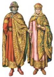 Князь та княгиня в парадному вбранні 10-11 ст. Реконструкція З. Васіної. 768479155502f